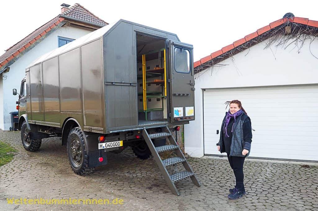 Ein Steyr 680 wird von uns im Jahre 2017 zum Oldimer LKW Wohnmobil umgebaut
