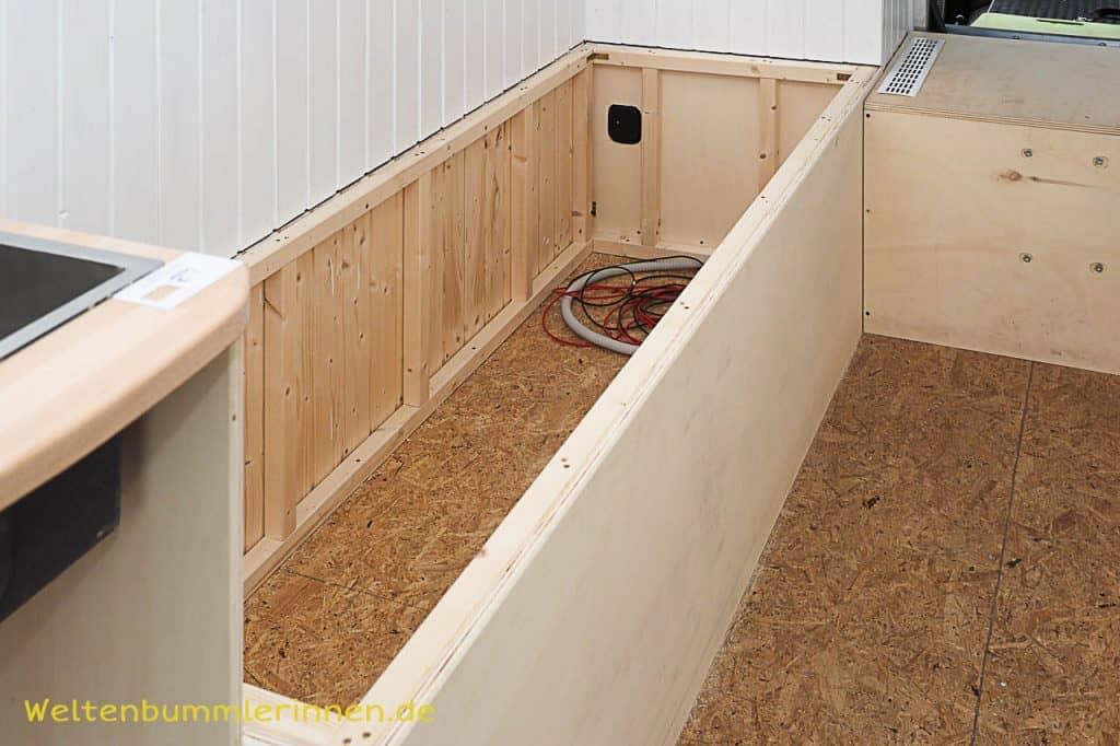 Bettenbau, Bau eines Bettkastens, Bett