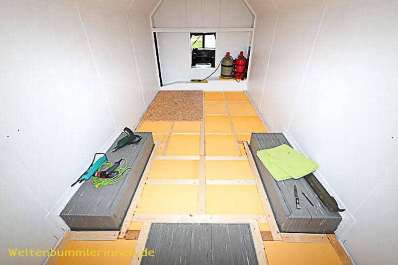 Fussbodenaufbau im Wohnmobil Teil 2