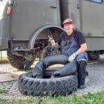 Reifenwechsel bei Trilexfelgen - Kampf mit der Trilex-Felge