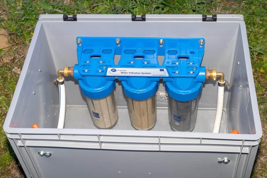 Die Wasserfilter zum Betanken unserer Wasserkanister im Wohnmobil