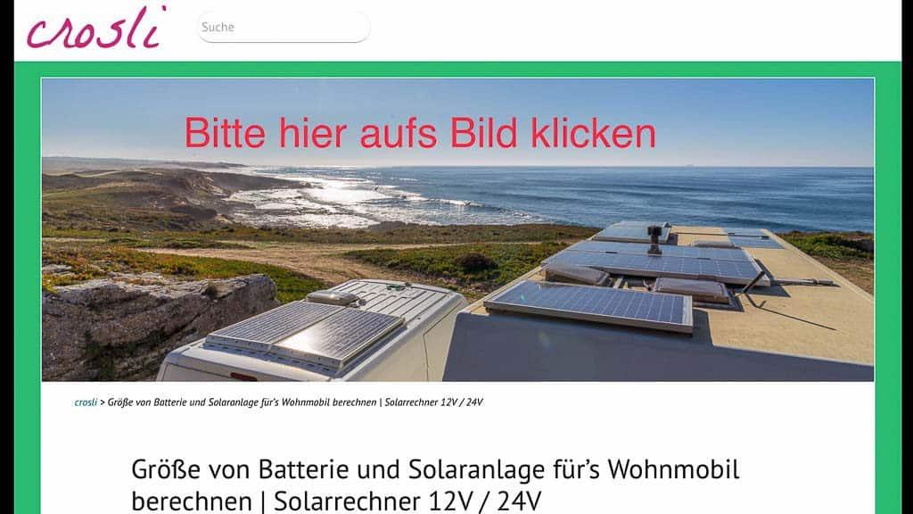 LINK: Die wohl beste Infoquelle und Beratung zum Thema Solarstrom im Wohnmobil