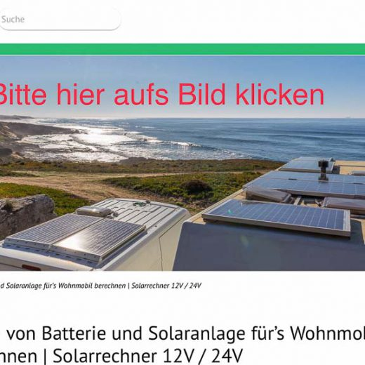 LINK: Die wohl beste Infoquelle zum Thema Solarstrom im Wohnmobil