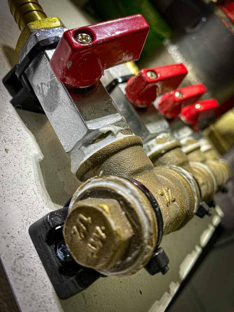 Unsere Warmwasserverteilung für die Trinkwasserfilteranlage im Wohnmobil.