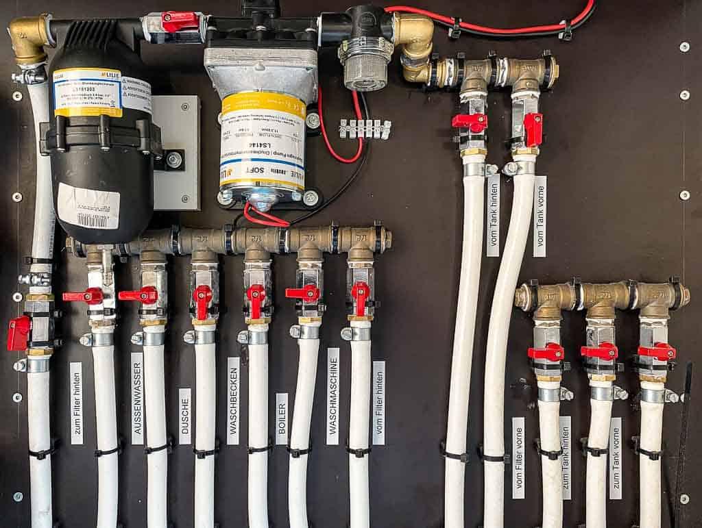 Unsere Trinkwasserfilteranlage im neuen Wohnmobil