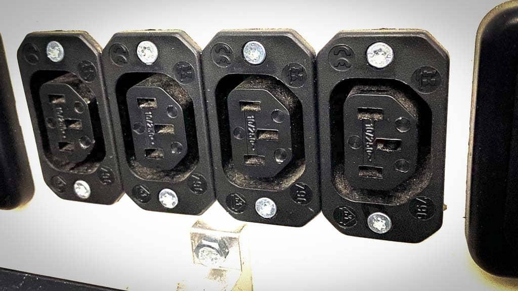 Die 12 Volt Kaltgerätesteckdosen in unserem Wohnmobil.