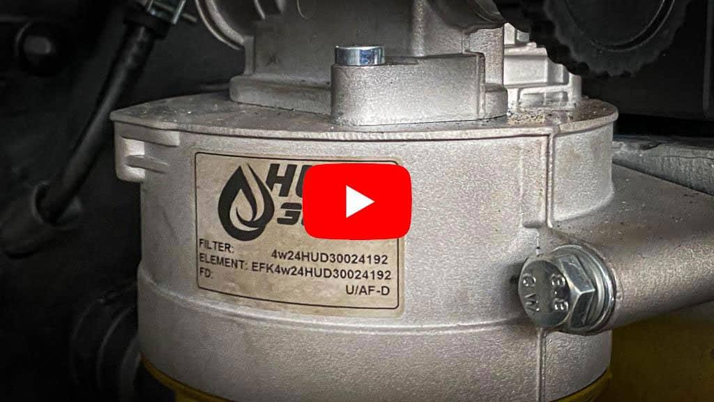 HUD-300-Dieselfilter, eingebaut in der Black Pearl von allzeit-bereift.de
