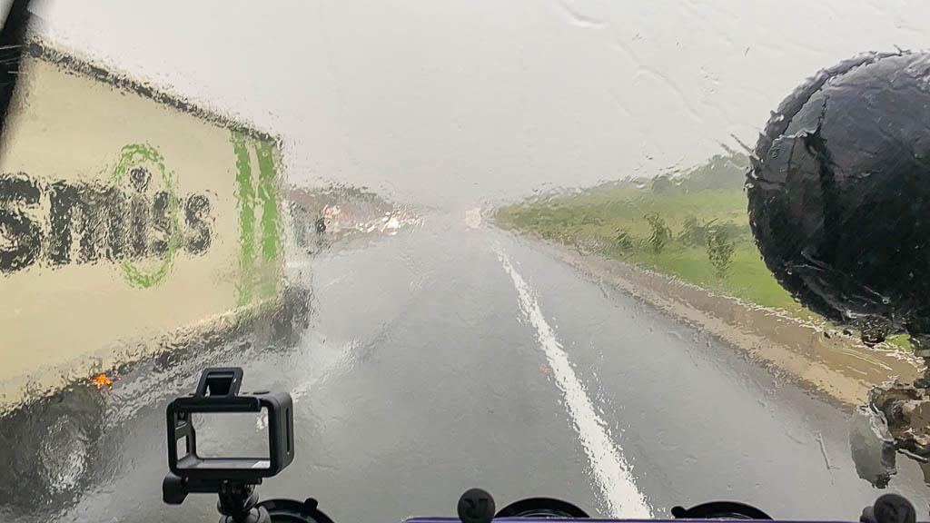 Regenwetter auf der Autobahn
