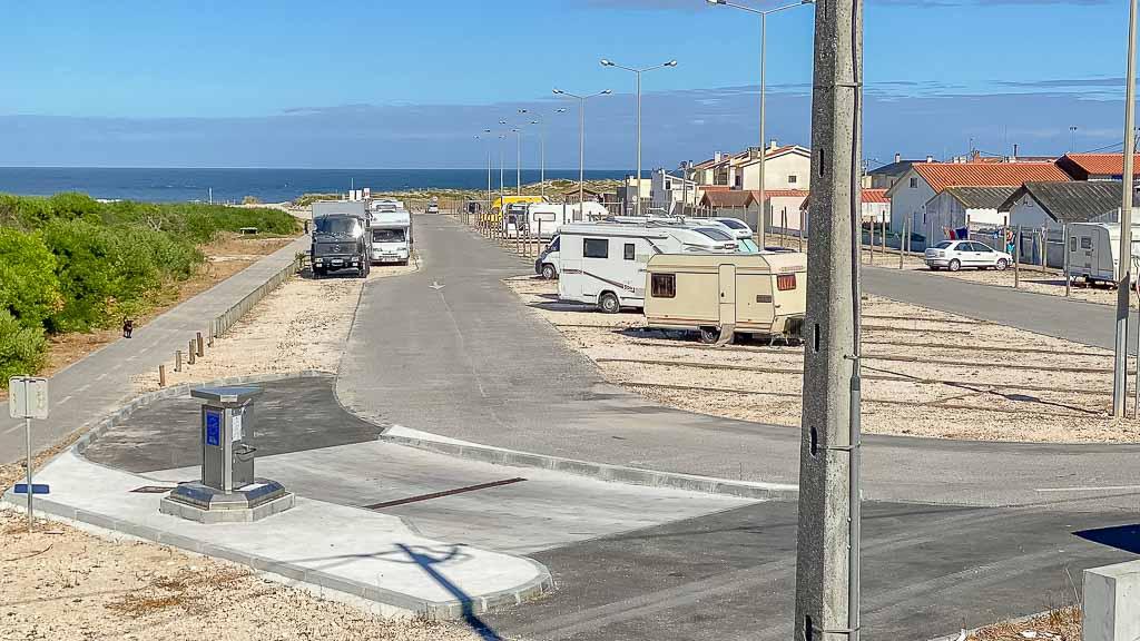 Wohnmobil Stellplatz in Costa de Lavos, Portugal
