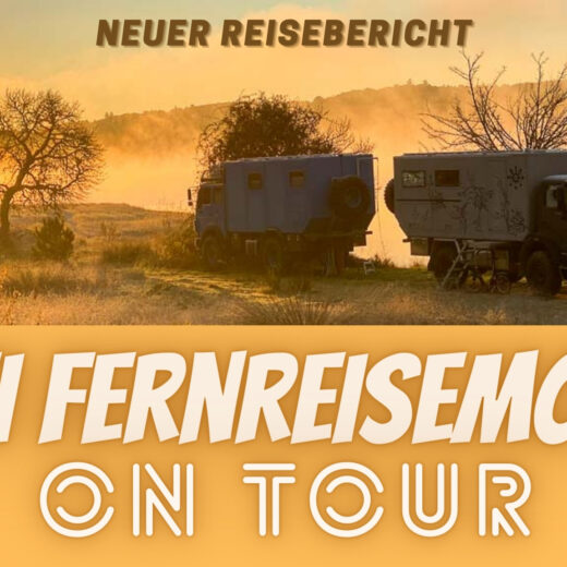Zwei Fernreisemobile on Tour