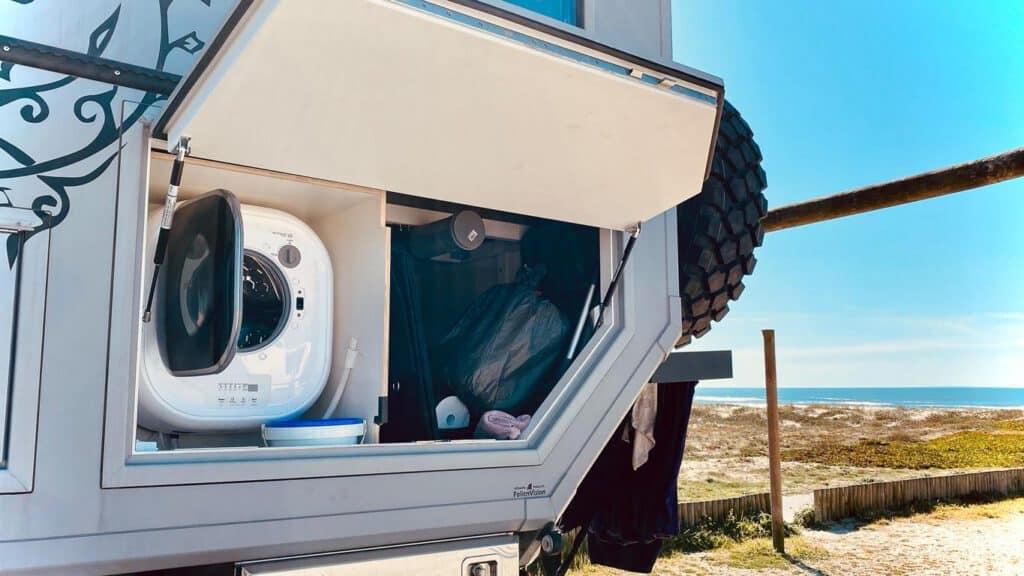 Eine eigene mini Waschmaschine im Wohnmobil