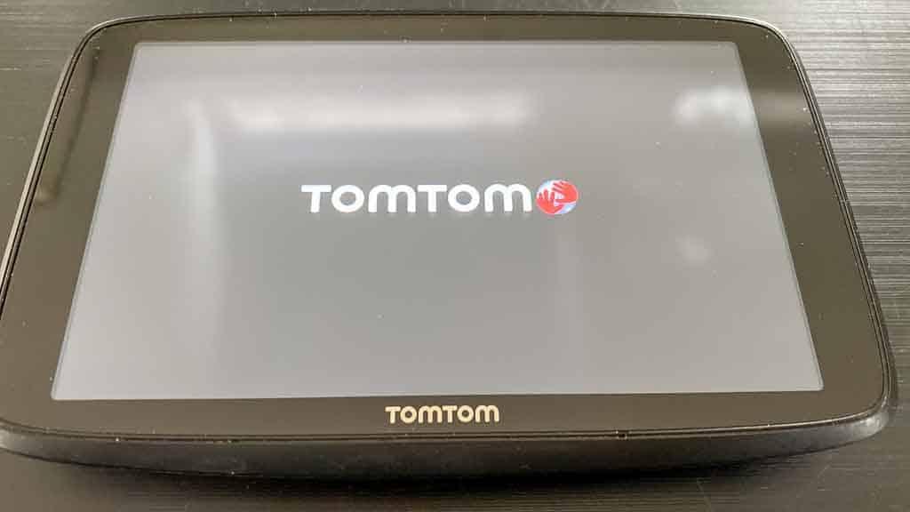 Navigation für große Wohnmobile: TOMTOM-Go-Professional-620 Anzeige des Einschaltbildschirms