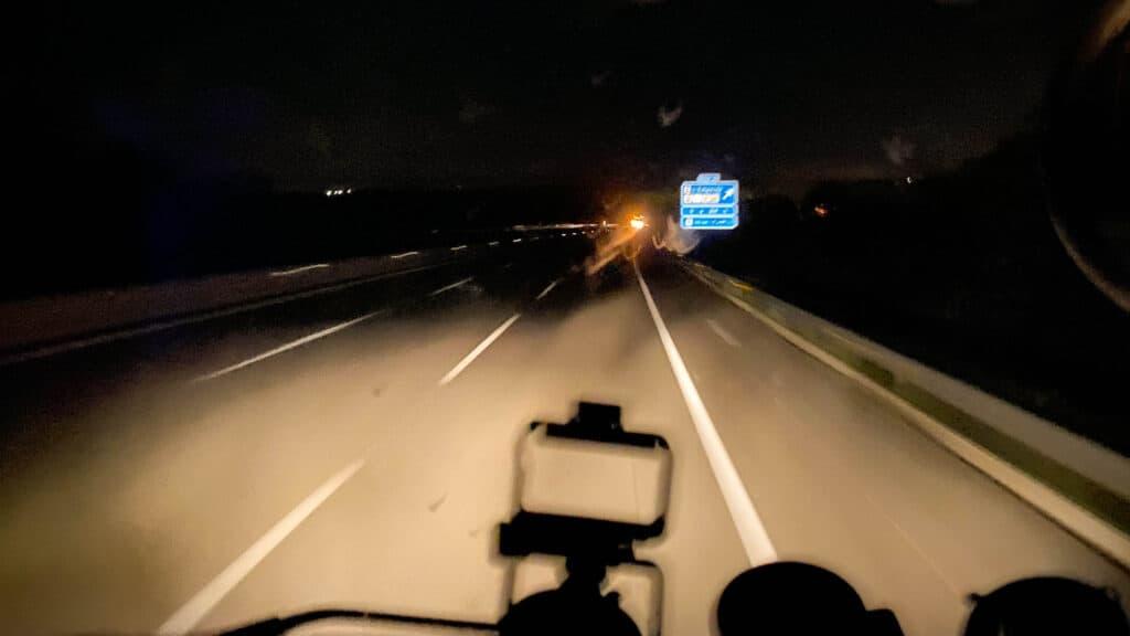 Nachtfahrt nach gestörter Nachtruhe